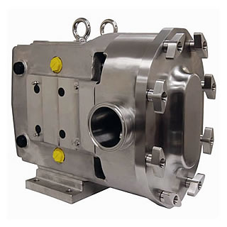 High viscosity circumferential piston pump
