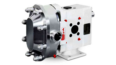 High viscosity circumferential piston pump