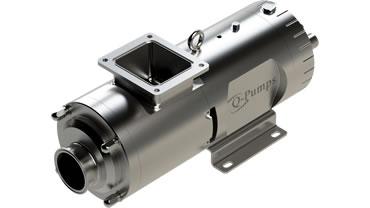 High viscosity twin screw pump
